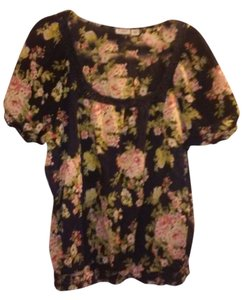 Cato Top Navy With Pink Floral