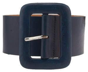 Streets Ahead Streets Ahead Blue Leather Belt, Size XS (3722)