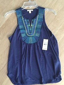 Ella Moss Necklace Top Dusk Blue