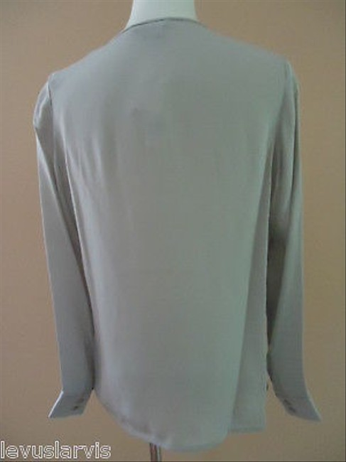 Vince Cowl Neck Draped Front Silk Top Grays