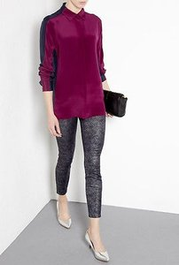 Current/Elliott Current Stiletto Ankle Foil Wash Cotton Blend 27 Skinny Jeans