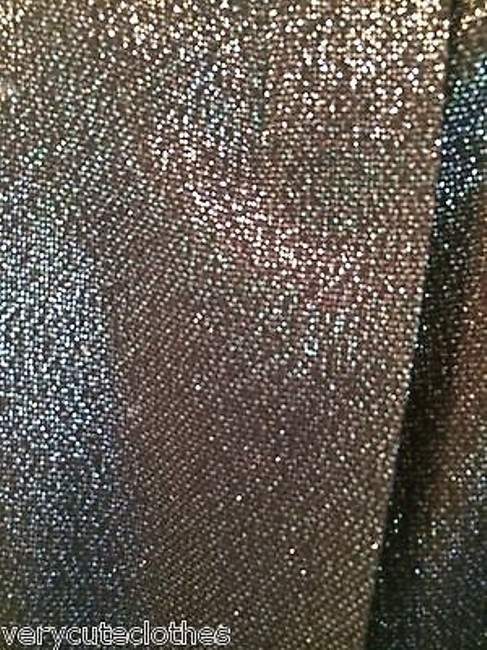 Vince Black Viscose Wool Blend Subtle Sheen Mini Mini Skirt Metallics