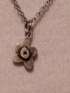 Other Jewelry Designer Artist Emily Rosenfeld Sterling Silver Flower Pendant Necklace