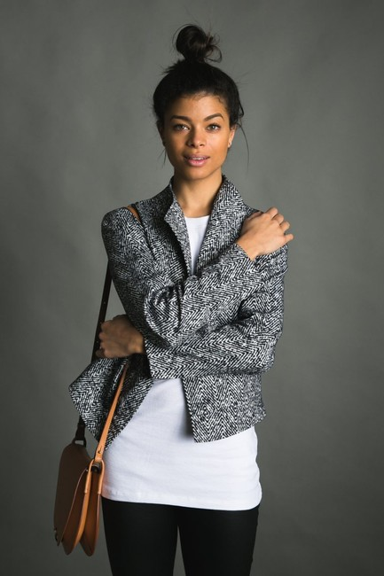 Twelfth St. by Cynthia Vincent Jacket Houndstooth Street Top Blacks
