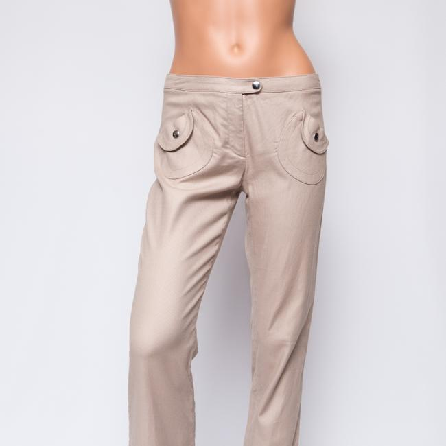 "Barbara Bui Cropped Khaki 29.5"" Inseam Capris Tan"