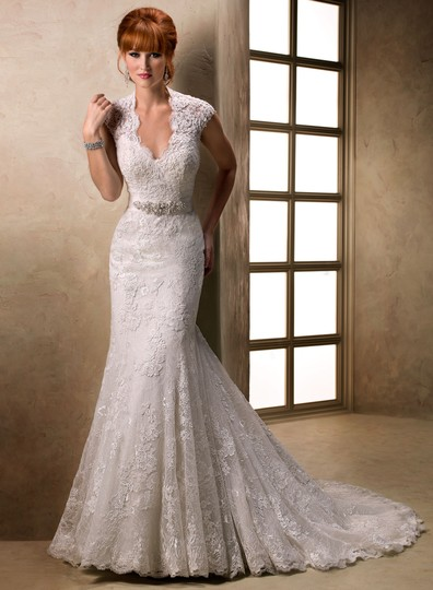 Maggie Sottero Ivory Lace & Tulle 12403 Wedding Dress Size 22 (Plus 2x)