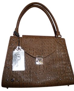 Diva Collection Satchel in Tan