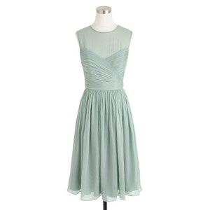 J.Crew Dusty Shale Traditional Bridesmaid/Mob Dress Size 4 (S)