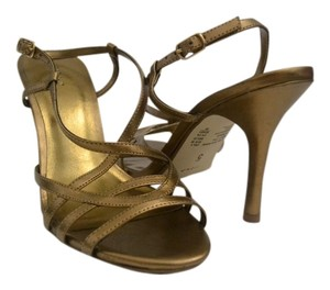 Fioni Stiletto Strappy Gold Sandals