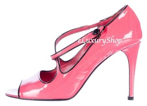 Prada Heels Patent Leather Mary Jane Pink Pumps