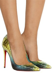 Christian Louboutin Thin Heel Stiletto Mermaid Ombre Pumps