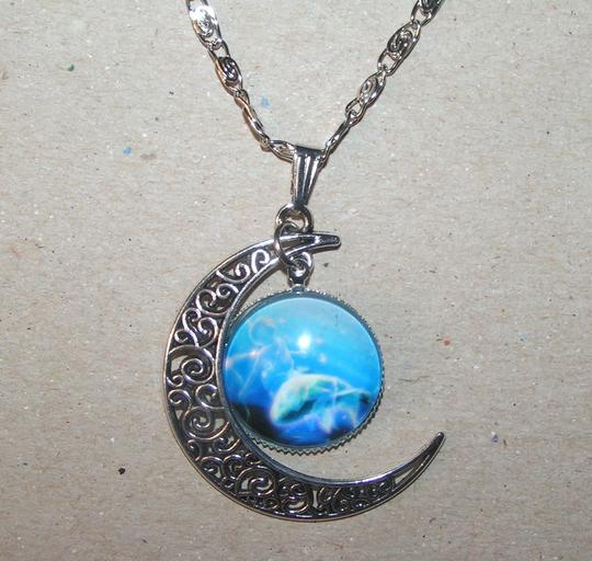 Other BOGO Moon World Glass Cabochon Pendant Necklace Free Shipping