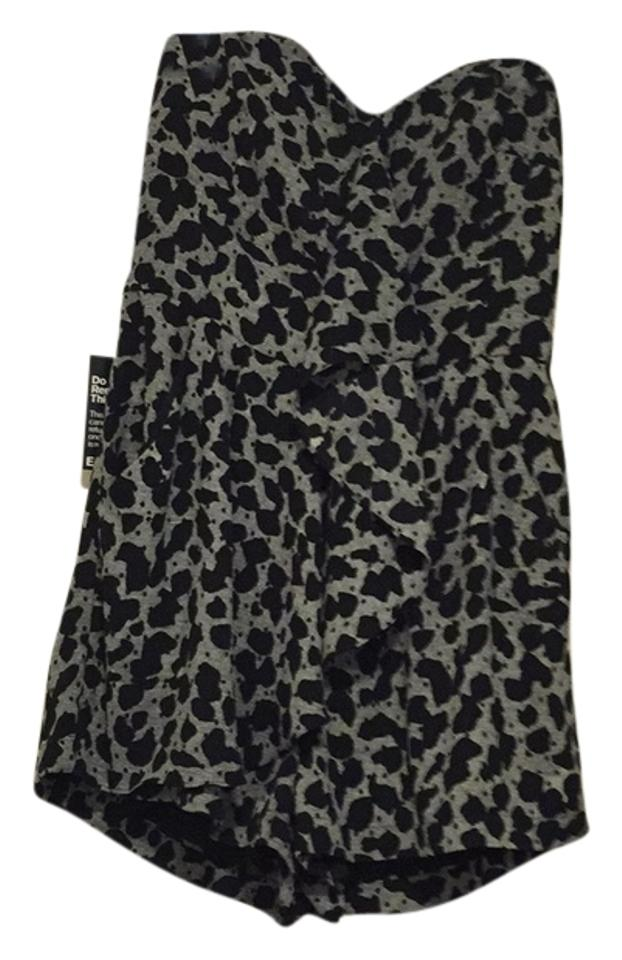 2e534768d45 Express Size Small- Black and Gray Romper/Jumpsuit - Tradesy