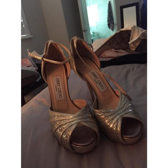 Jimmy Choo Silver gold Platforms