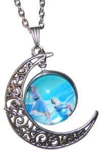 Other Mother Daughter Glass Cabochon Pendant Necklace Free Shipping