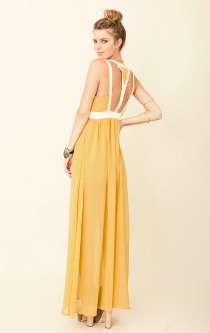 Yellow Maxi Dress by Keepsake the Label Gown Gown Party Eyes Wide Open Color-blocking