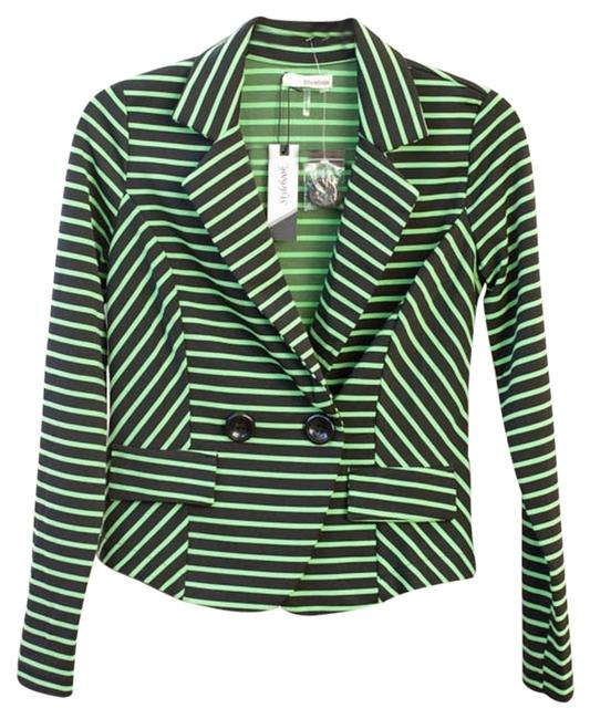 Preload https://item1.tradesy.com/images/stylebook-striped-chartreuse-chartreuseblack-stripes-jacket-5984545-0-0.jpg?width=400&height=650