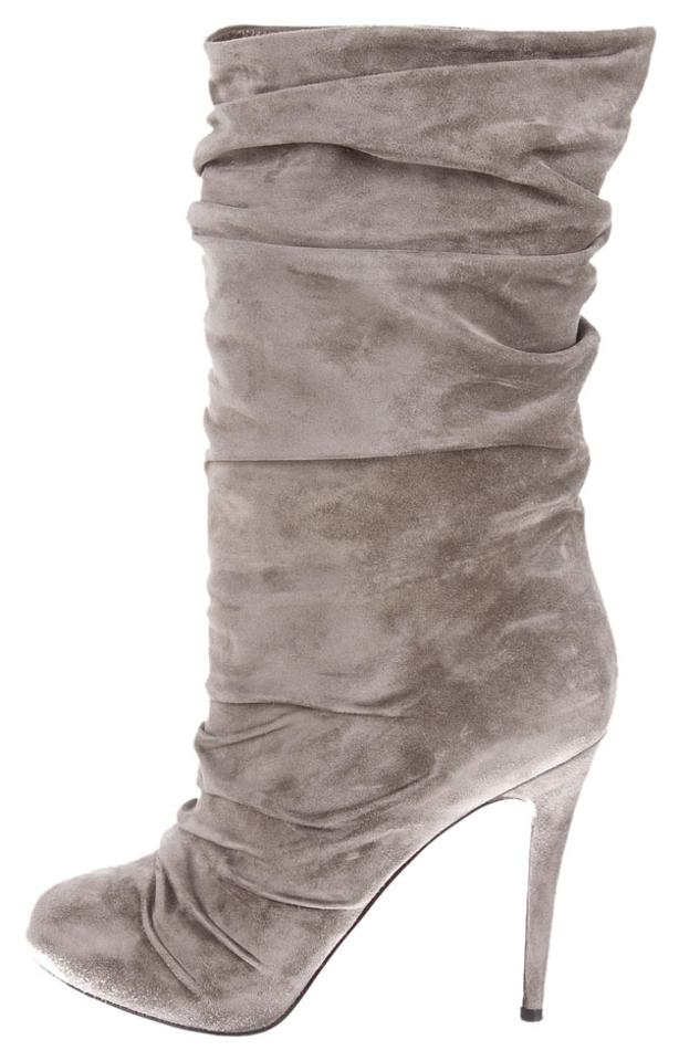Christian Boots/Booties Louboutin Grey Suede Round-toe Boots/Booties Christian 1563f1