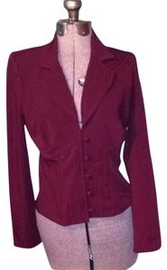 HeartSoul Suit Jacket Style Buttons Top Deep Red