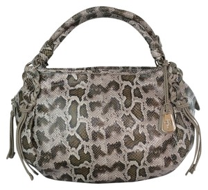 Cole Haan Editorial Mckenzie Print Satchel in wetland snake /Gray