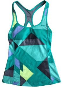 Nike Dri-Fit Geometric Print Racerback Tank W/ Built In Shelf Bra
