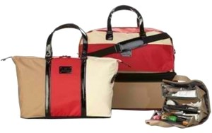 Joy Mangano Color Block Camel/Apple Travel Bag