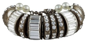 Chanel Chanel Crystal And Pearl Embellished Bracelet