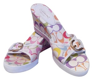 Coach Designer Fabric Sandals