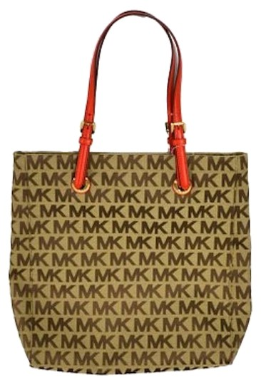 Preload https://item3.tradesy.com/images/michael-kors-jet-set-north-south-in-beige-ebony-mandarin-canvas-tote-5985922-0-0.jpg?width=440&height=440