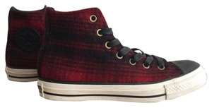 Converse Woolrich Plaid Wool Black and Red Athletic