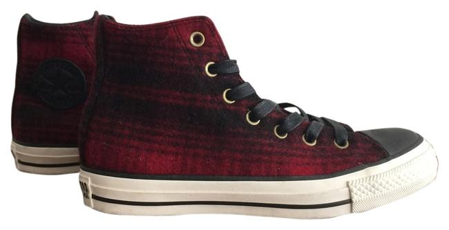 Item - Black and Red Chuck Taylor All Star Sneakers Size US 8 Regular (M, B)