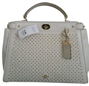 Coach Gramercy Style 35285 Satchel in White Beige