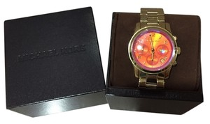 Michael Kors Michael Kors MK5939 Gold and Pink Runway Chronograph Stainless Steel Watch Brand New