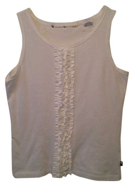 Preload https://item2.tradesy.com/images/tommy-hilfiger-white-ruffle-small-tank-topcami-size-6-s-5987956-0-0.jpg?width=400&height=650