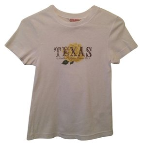 Guess Texas Yellow Rose T Shirt White