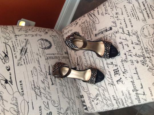 Jessica Simpson Black Suede with Gold Studs Sandals