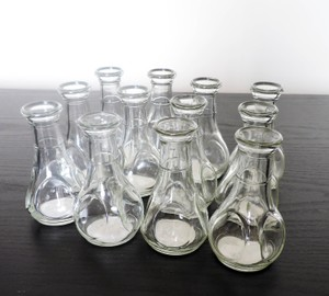 Quick Candles Clear Eastland Pinch Bud Vases 24 Bottles Centerpiece