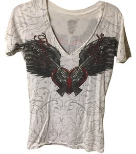 Sinful by Affliction T Shirt White
