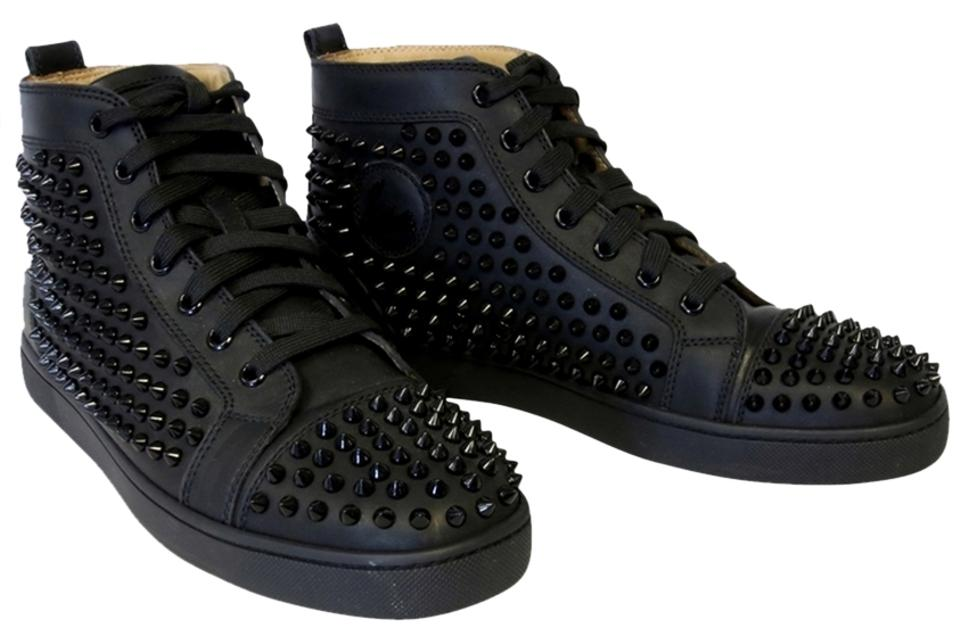 new style 9bb8f cb0f5 Christian Louboutin Black Louis Flap Matte Spiked High Top Red Bottom 42  (Men Sneakers Size US 9 Regular (M, B) 45% off retail