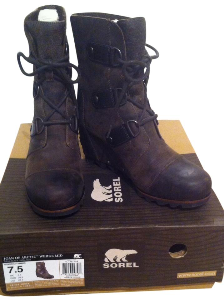 5dc20cf08fe9 Sorel Grill Black Joan Of Arctic Wedge(Tm) Mid Boots Booties Size US ...