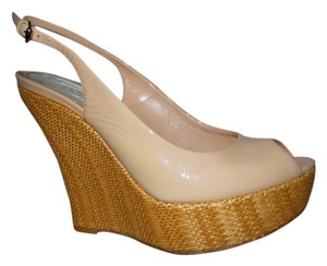 Gucci Platform Wedge Pump beige/nude Wedges