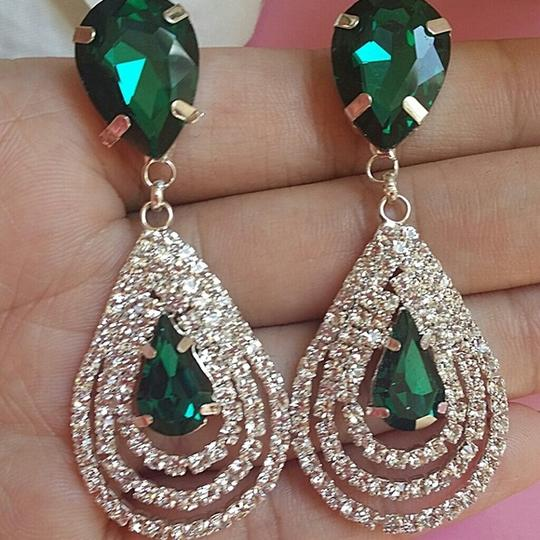 New Dange Drop Chandelier Call Green Drop Water Blue Earring Swarovski Crystal Bridal Bridesmaid Gift Jewlery