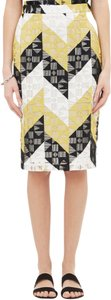 A.L.C. Skirt citron black and creme