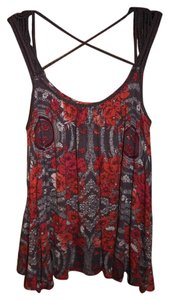 Free People Top Floral Peasant Tank