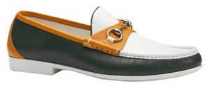 Gucci Men Leather Horsebit Loafer Multi color Boots