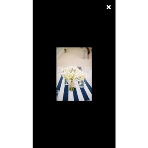 Navy and White Canopy Stripe Table Runners Tablecloth