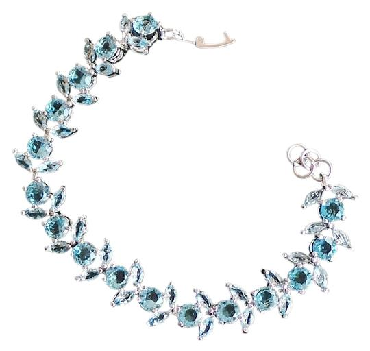 Other Fabulous Sky Blue Topaz 925 Sterling Silver 14k Tennis Bracelet