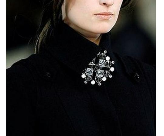 Chanel Chanel CC Black Geo Large Pendant Brooch As Seen on Sex and the City