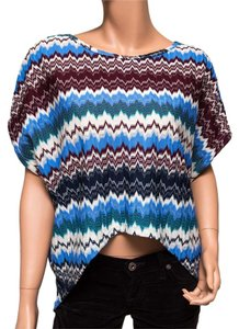 Romeo & Juliet Couture Poncho Top Multicolor