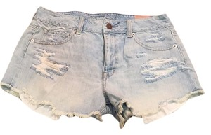 American Eagle Outfitters Cut Off Shorts Light blue